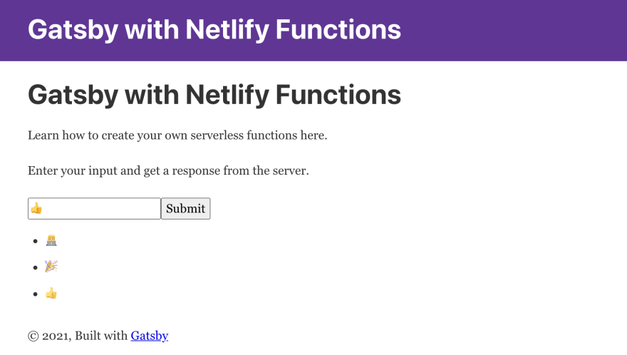 Gatsby with Netlify Serverless Functions