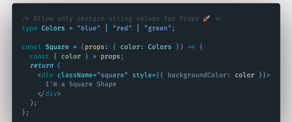 Cover image for How to allow only certain string values for component props in Nextjs using TypeScript?