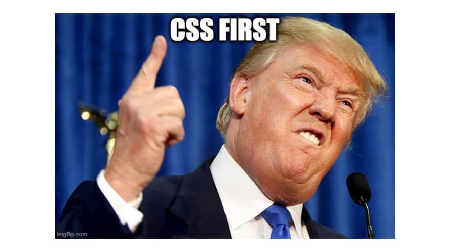 CSS first