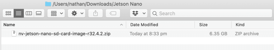 Jetson Nano SD card image