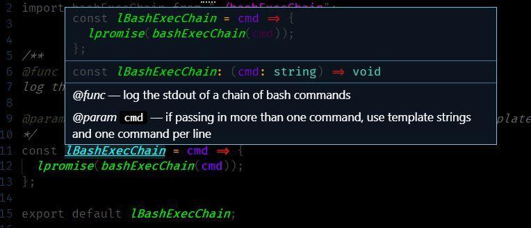 JSDoc usage example
