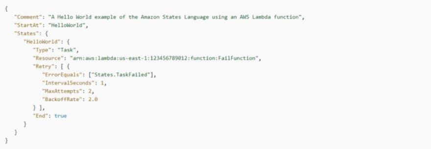 AWS Step Functions: States.TaskFailed example