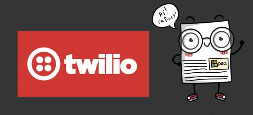 twilio logo and docs mascot