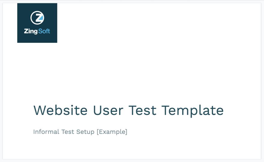 User test template screenshot