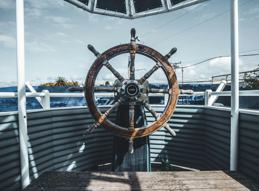 A boat's wheel