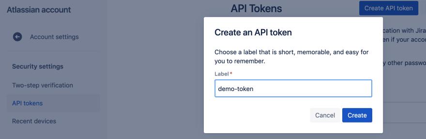 Create API Token for Jira Service Desk