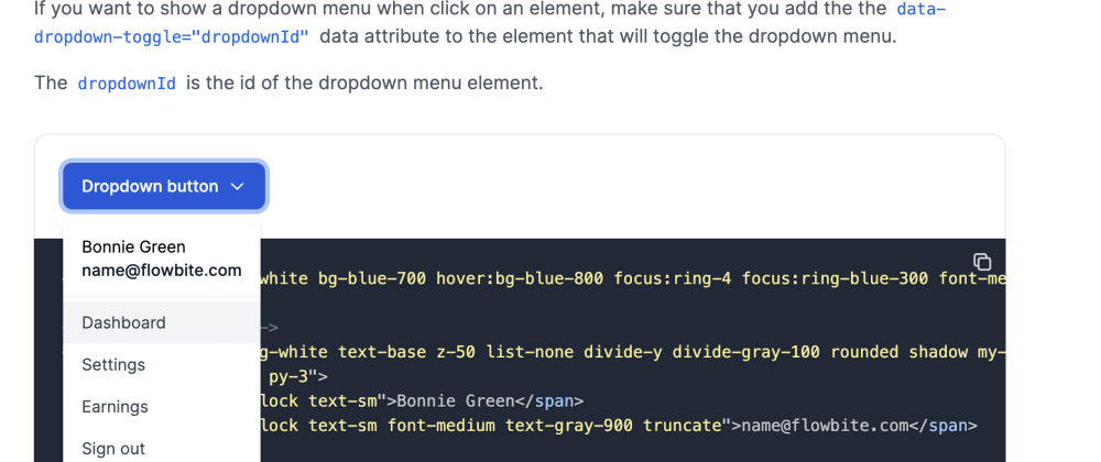 Cover Image for Building a Tailwind CSS dropdown component