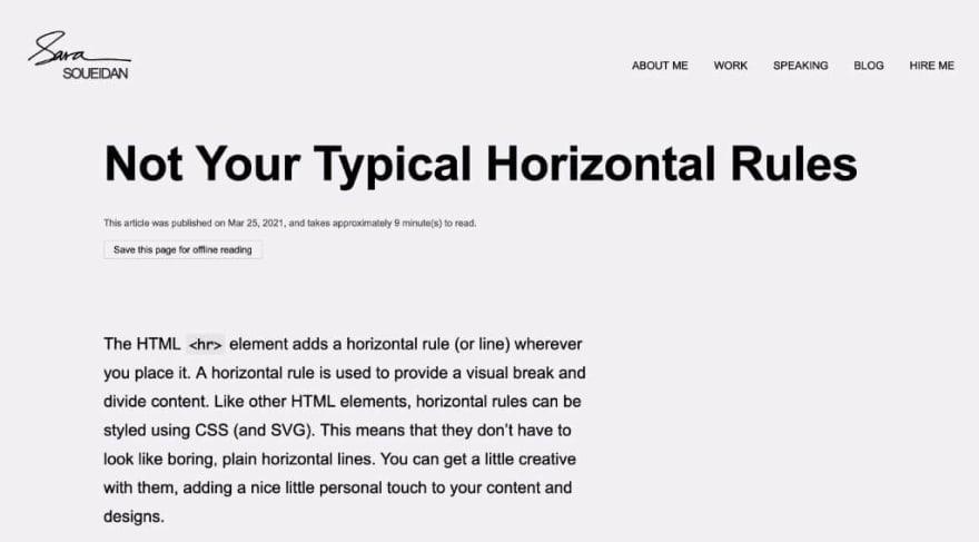 Horizontal Rules