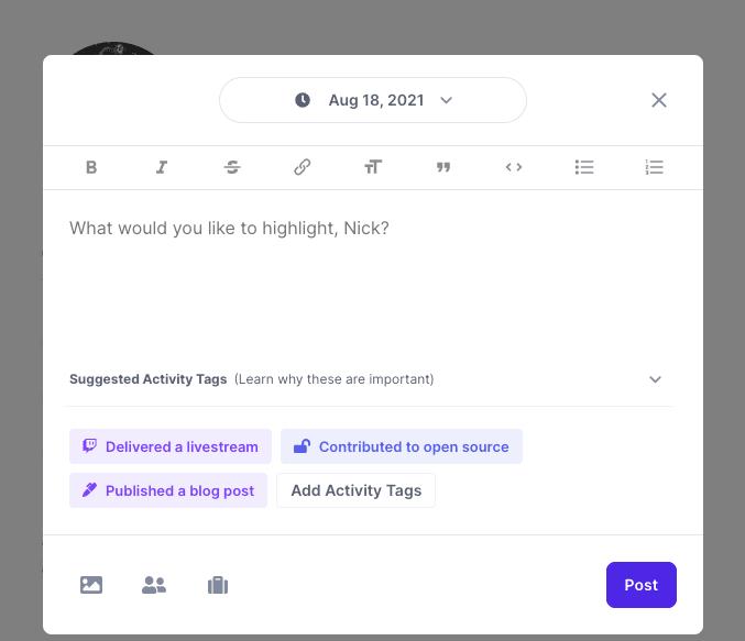 Creating a Polywork highlight