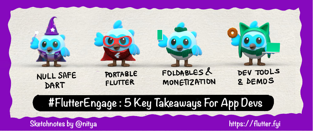 Cover image for A Visual Recap of #FlutterEngage: My 5 Takeaways