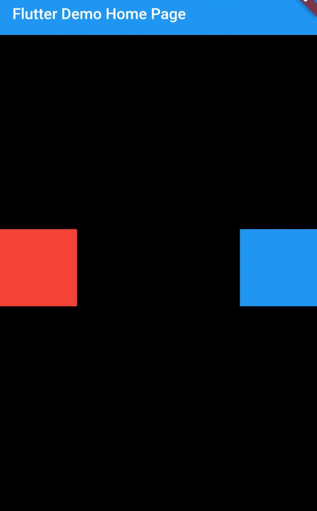 Add Spacing between children in Row widget