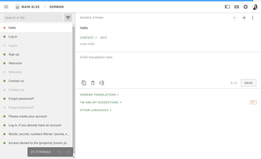 Translating duplicate content