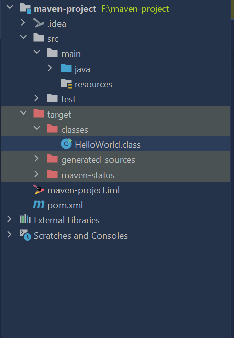 Maven Compile Folder Structure