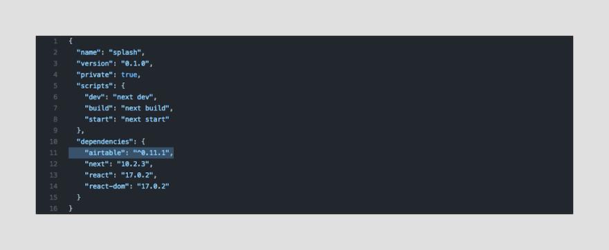 Dependencies screenshot