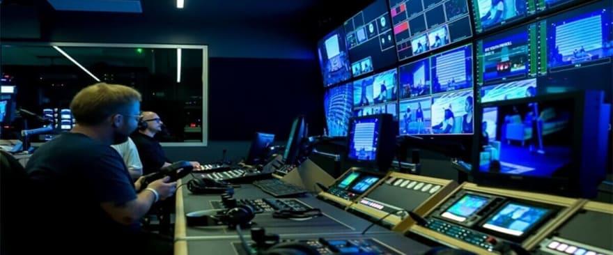 image showing broadcast studio