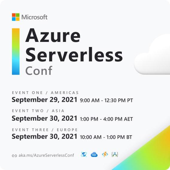Azure Serverless Conf: Event Card
