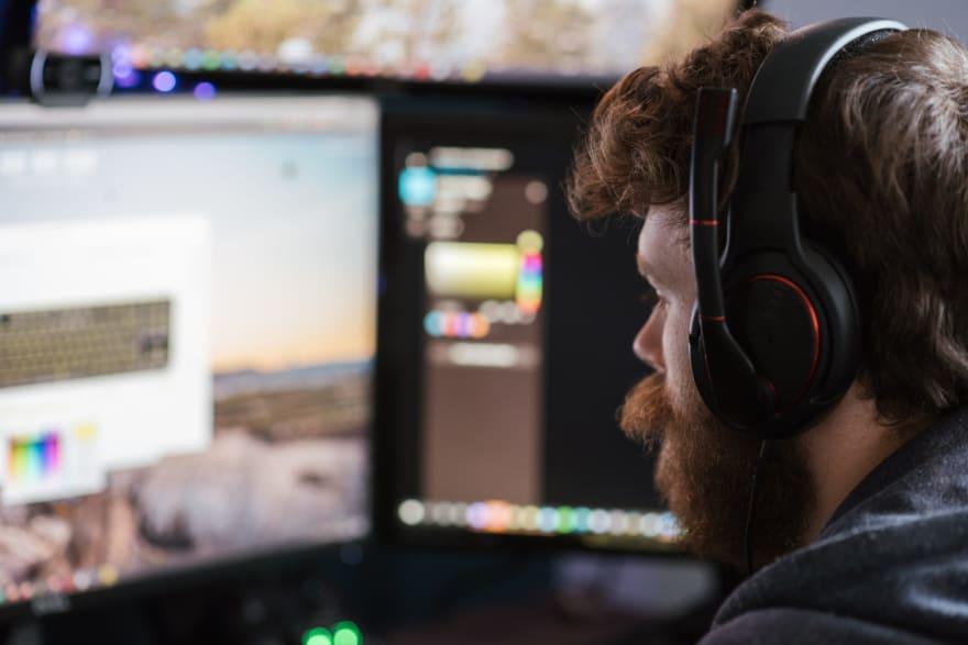 Man Starting at Computer Screen