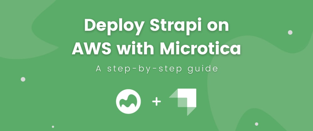 Cover image for Deploy Strapi on AWS with Microtica in 10 minutes