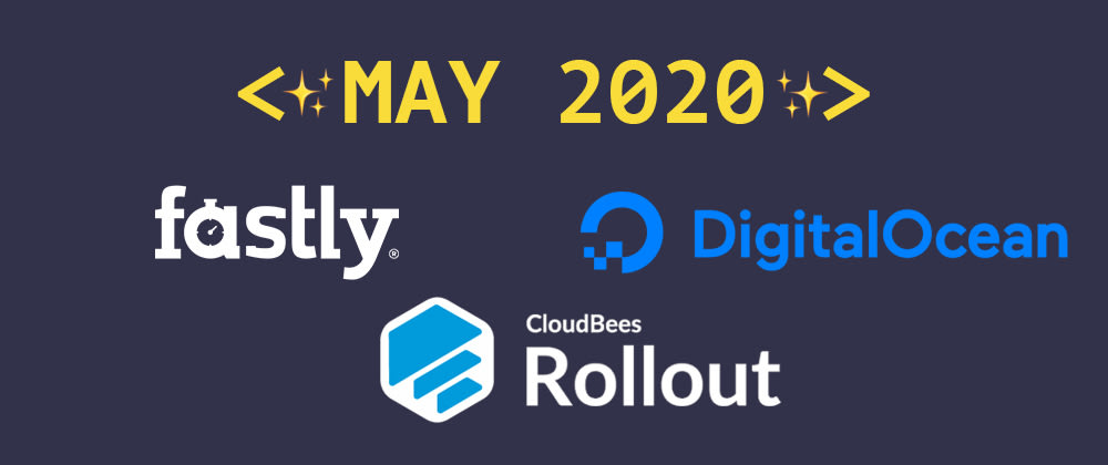 Cover image for Introducing our May 2020 sponsors