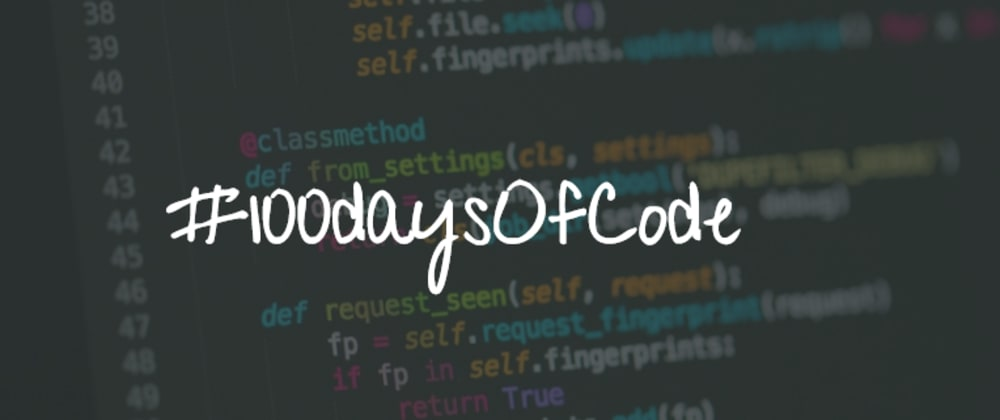 Cover image for My #100daysOfCode Challenge