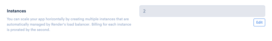 Update Server Instance Count