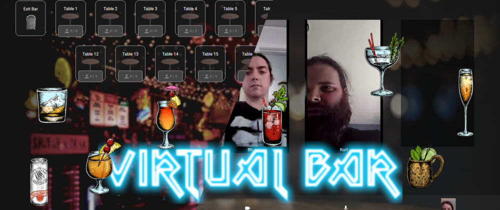 Cover image for Virtual Bar - Video Chat App for Twilio Hackaton