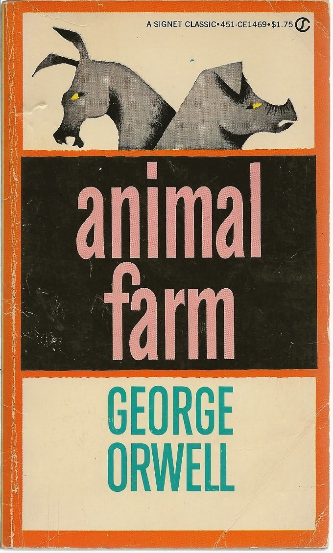 The cover of George Orwell's classic novel: Animal Farm