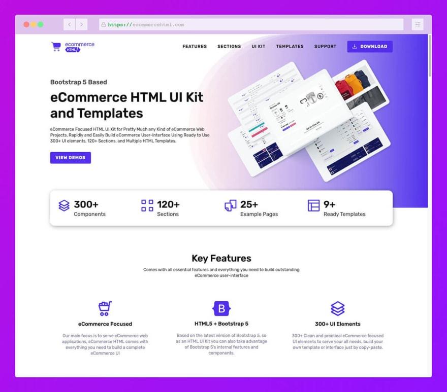 eCommerce HTML UI Kit