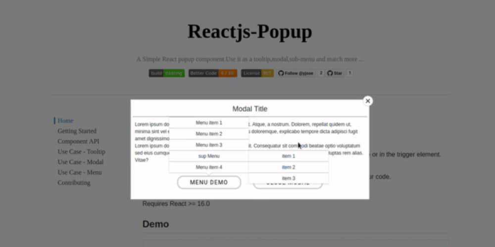 Introducing reactjs-popup 🎉 — Modals, Tooltips, and Menus