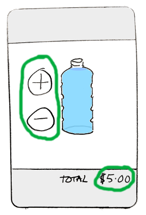 ugly water seller app, first version