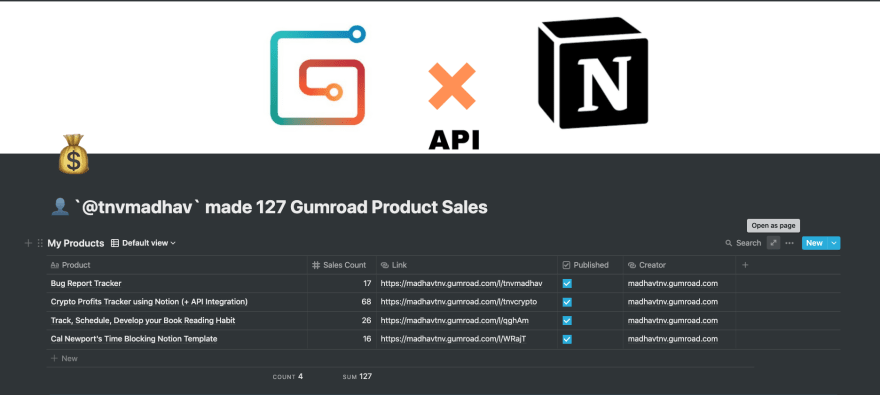 Gumroad Sales Dashboard