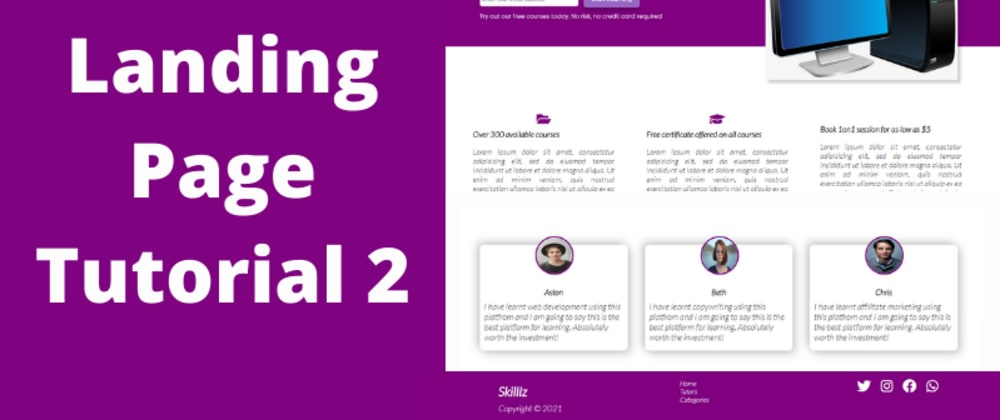 Cover image for CSS Tutorial - How to Make a Page Responsive using CSS Media Queries