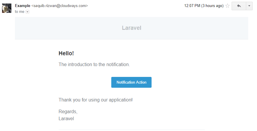 Laravel notification