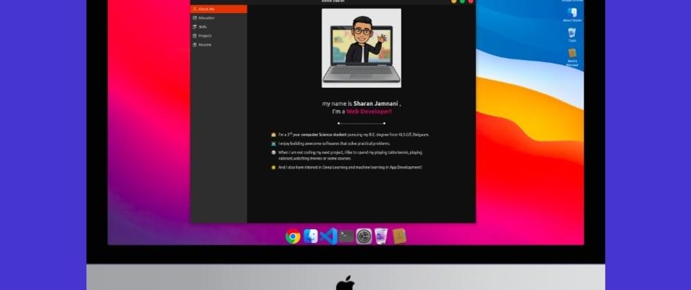 Cover image for macOS themed Portfolio website