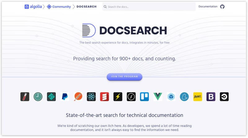 Algolia DocSearch