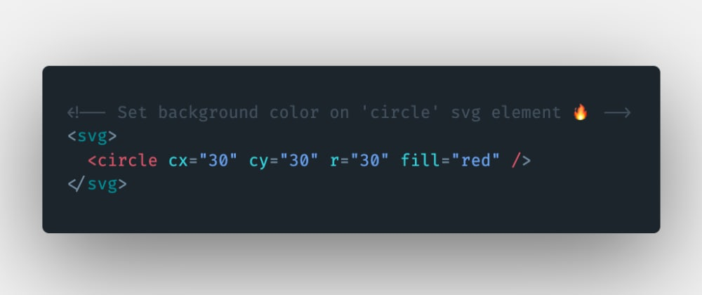 Cover image for How to set the background color on the circle svg element in HTML?