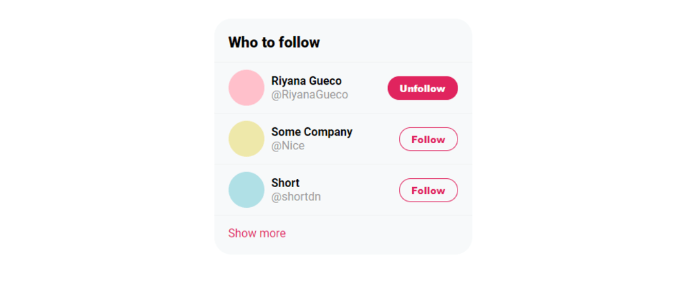 Cover image for I recreated the Twitter 'Who to follow' card