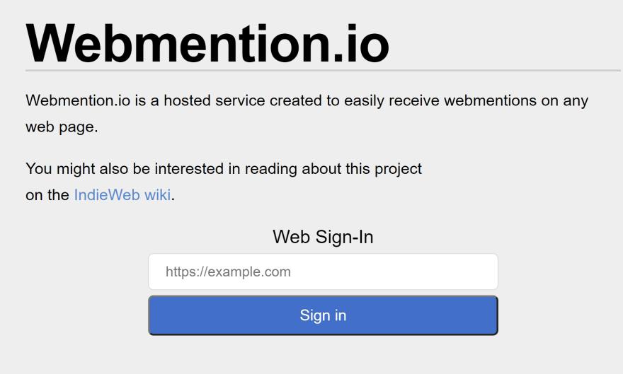Webmention.io signin