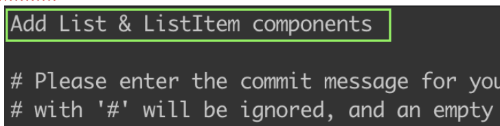 Reword commit message - after