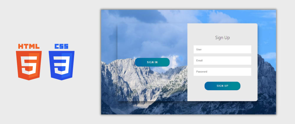 Cover image for Day 18/30 : Animated Login and Sign Up Form using HTML and CSS