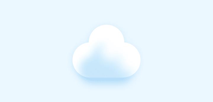Base cloud withshadow