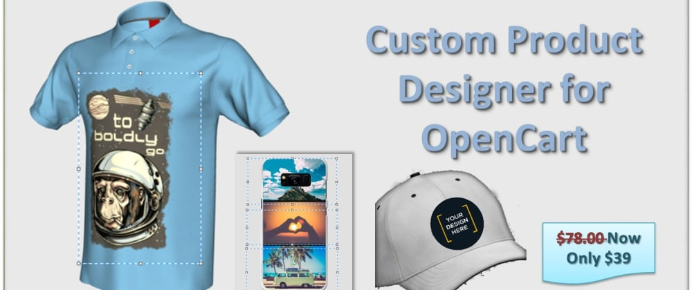 Cover image for Design a T-shirt by Opencart custom product designer extension