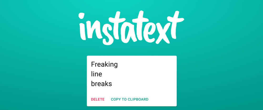 Cover image for My first React webapp: Instatext