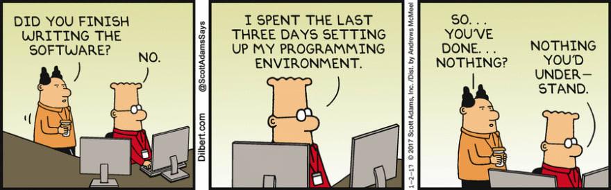 Dilbert programming environment