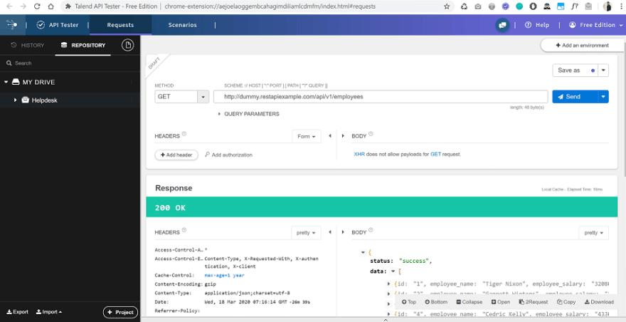 Talend API Tester