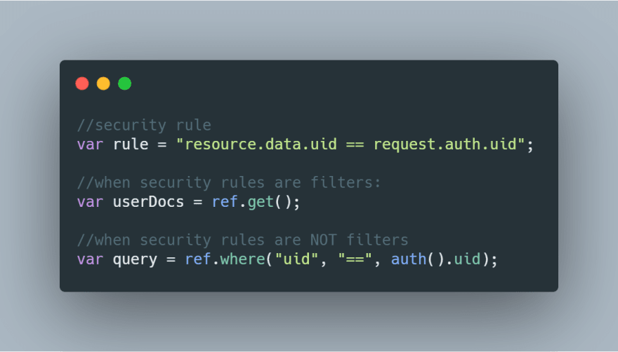 security rules example