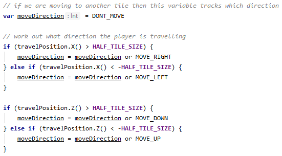 Changing tile code