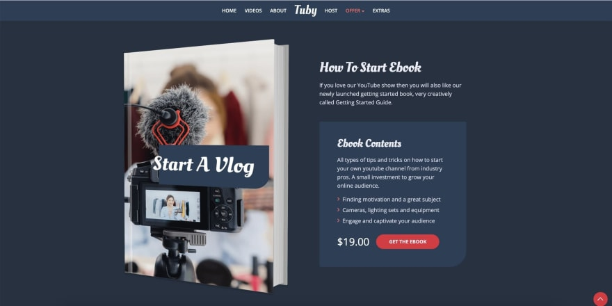 Tuby HTML Template Ebook Feature
