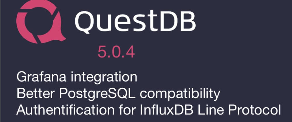 Cover image for QuestDB announces Grafana support