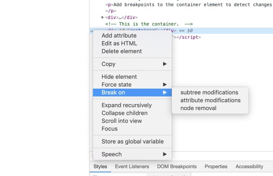 Chrome DevTools: Detecting Element Changes - DEV Community